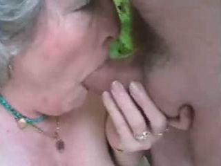 Amateur Village Granny Blows and Gets Fucked By Her Grandpa In The Backyard