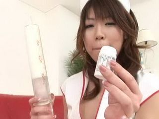 Asian Nurse Injected New Medicament Into Other Nurses Ass