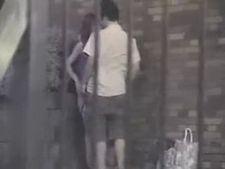 Teen Japanese Couple Outdoor Secretly Taped