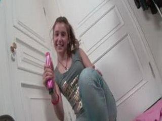Abelinda looking for the dildo