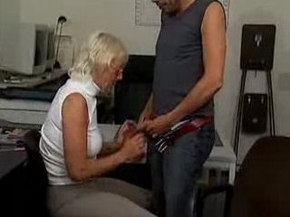 Blonde crazy old mom blowjob