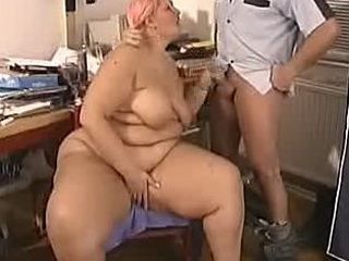 BBW Blonde Mom Blowjob