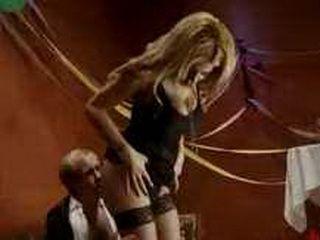 Horny tranny in lingerie gets handjob