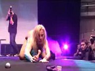 Porn on stage hot blonde dildo