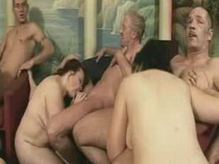 Horny mature grannies sex orgy