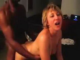 Hubby films his wife fucking with black date