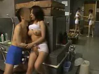 Japan couple has secret foreplay session at bathhouse