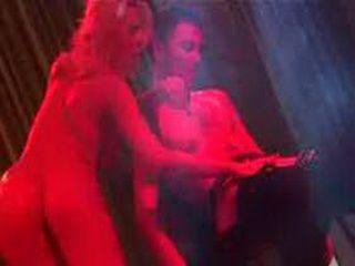 Scandal on stage wtih stripper