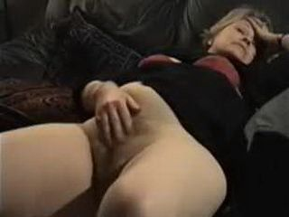 Husband Catch His Mature Woman Masturbating On Sofa  3x