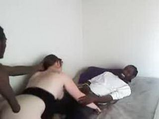 White Slut Gets Blacked In A Threesome