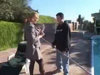 Hot Blonde Milf Figured New Job For Pool Boy 3x