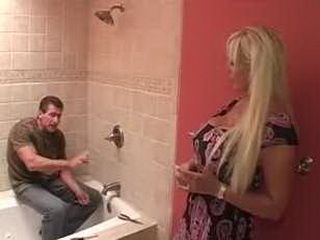 Blonde Milf Asked Repairman To Clean One More Hole 3x