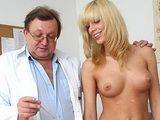 Blonde Bella Morgan visit gynoclinic to have her pussy gyno
