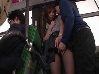 Cute Japanese Wife Groped And Hard Fucked In The Bus On Her Way To Work