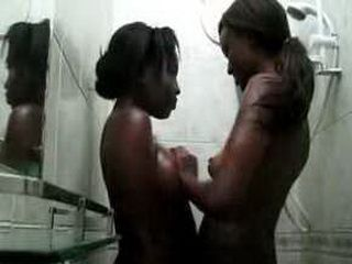 Nisa and Anaya get too horny kissing each other in shower