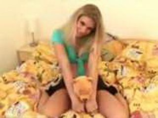 Blonde Teen Plays With Her Dildo