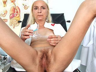 Skinny granny Vera got hirsute pussy