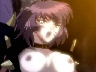 Busty hentai hot riding monster cock