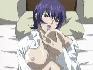 Bigboobed hentai nurse self masturbation