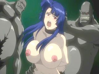 Bondage hentai bigboobed groupfucked by ghetto monsters anime