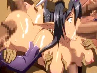 Ghetto hentai Elf with huge boobs gangbang by bandits and flooding cum
