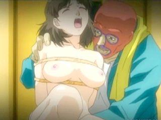 Bondage anime with big tits gets  banged