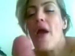 Horny MILF gives blowjob and rides cock
