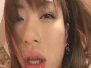 Japanese Young Whore Riding A Mature Cock