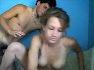 Teen couple fucking on camera