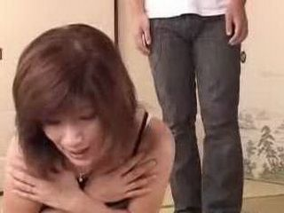 Husbands Cousin Catch Japanese Mom Doing Dirty Things In Bedroom