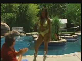 Busty Ebony Screwed Hard By The Pool