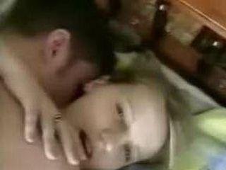 Amateur couple making love