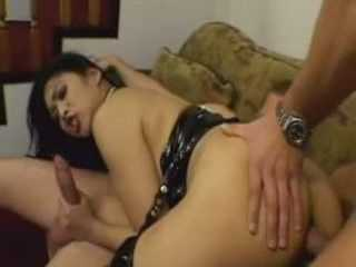 Hot Asian Whore Against Two Nasty Fuckers