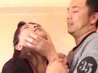 Guest Roughly Punish Young Japanese Maid