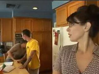Sexy Mom Gets Hard Fucked In The Kitchen By Husbands Nephew