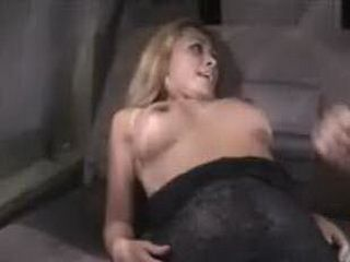 Hot blonde in a rut fucking hard