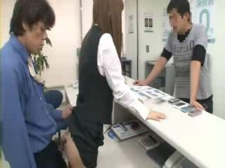 Salesgirl Fucked At Work While Selling Things To Customers