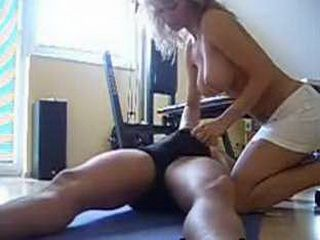 Squirting babe rides cock and gets creampied