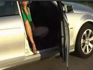 Zuzinka masturbating at a gas station xLx