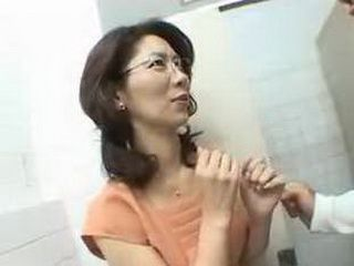 Japanese Milf With Glasses Gets Fucked Against Her Will