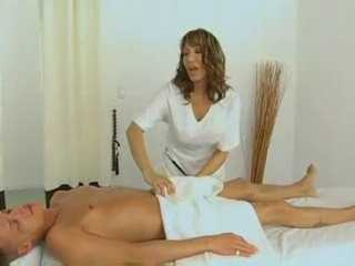 Horny Cougar Masseuse Gives Private Massage