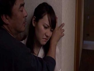 Scared Japanese Girl And Her Crazy Neighbor