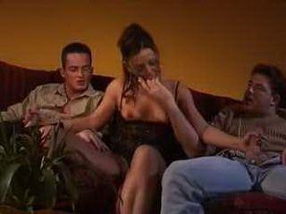 Brunette Boned Hard In Threesome