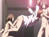 Bondage hentai gets fingered wetpussy and threesome sex