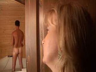 Mature Mom Spy Man In  Shower