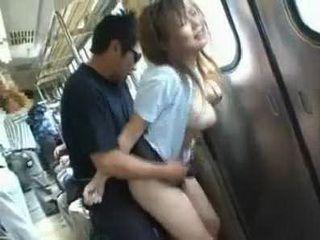 Fucked on a crowded train