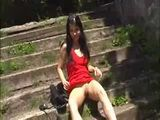Zuzinka the red dressed girl at the park part 1 xLx