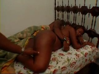 Sleeping Hot Ebony Awaken By Her Boyfriend's Friends To Fuck Her