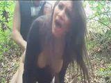 Amateur Teen Gets Fucked In Woods
