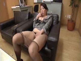 Horny Mature Principal Masturbates at her Office